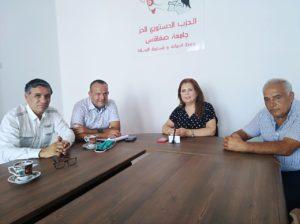 Une séance de travail du représentante, Hajar Chakroun